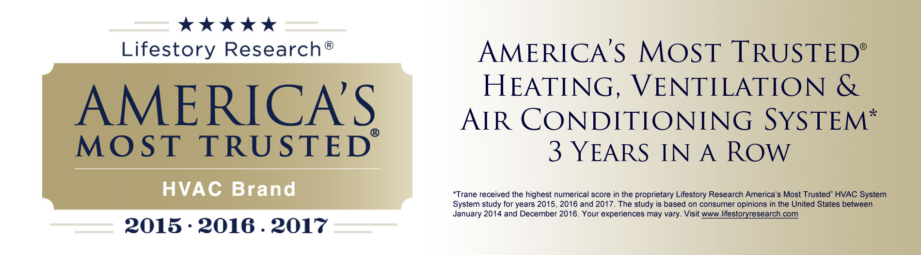 Trane is America's most trusted HVAC (heating, ventilation & Air Conditioning) System.