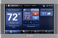 Trane Comfortlink heating and cooling controls help control comfort and more.
