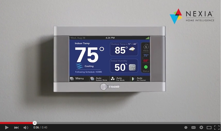 Trane is partnered with Nexia Home Intellegence thermostats for your home.